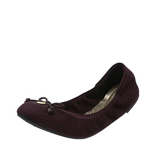 dexflex Comfort Black Violet Perforated Women's Caroline String Tie Flat