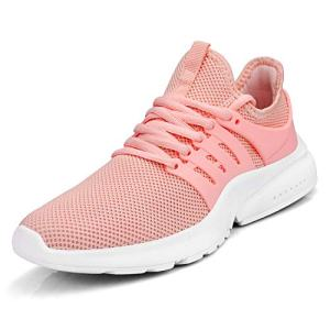 Feetmat Women's Running Shoes Lightweight Non Slip Breathable Mesh Sneakers Sports Athletic Walking Work Shoes Pink 8 M
