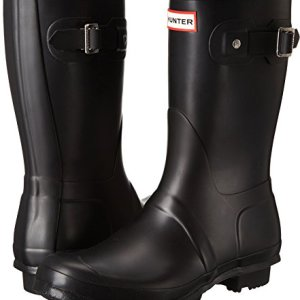 Hunter Women's Original Short Rain Boot,Black Matte