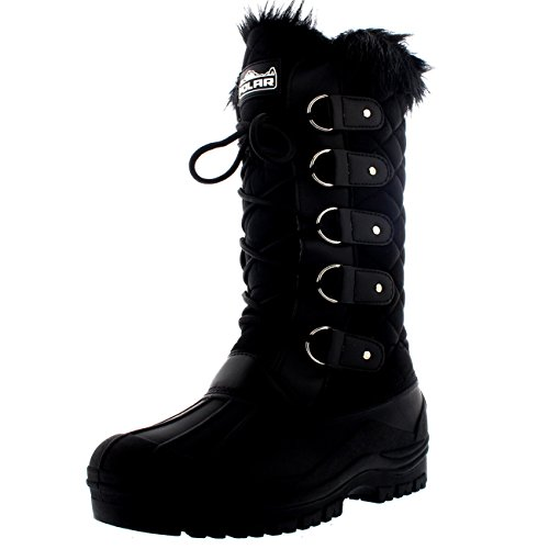 Polar Womens Waterproof Tactical Mountain Walking Snow Knee Boots