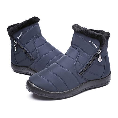 gracosy Warm Snow Boots, Women's Winter Ankle Bootie Anti-Slip