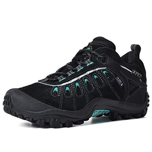 XPETI Women's Boxter Waterproof Hiking Shoe Black