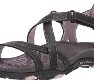 Merrell Women's Sandspur Rose Leather Black/Lilac Keepsake