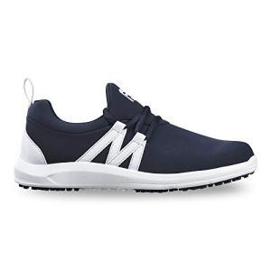 FootJoy Women's Leisure Slip-On Golf Shoes, Navy/White, 9.5 M US