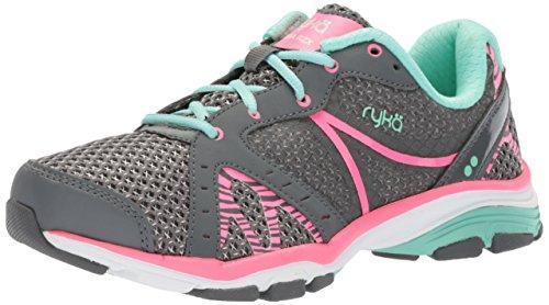 Ryka Women's VIDA RZX Cross Trainer, Iron Grey/Hyper Pink/Yucca Mint