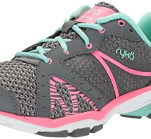 Ryka Women's VIDA RZX Cross Trainer, Iron Grey/Hyper Pink/Yucca Mint