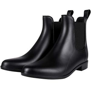 Simmore Ankle Rain Boots for Women Waterproof Chelsea Boots Lightweight