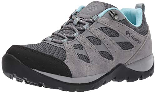 Columbia Women's Redmond V2 Hiking Shoe, Graphite, Blue Oasis