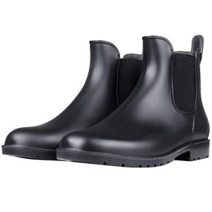 Women's Waterproof Ankle Rain Boots - Lady Slip On Short Rain Shoes