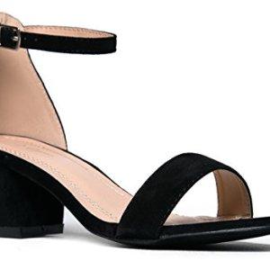 J. Adams Daisy Mid Heel Sandal Black