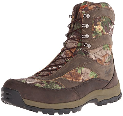 """Danner Men's High Ground 8"""" Realtree Xtra Hunting Boot,Brown/Green"""