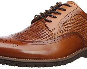 STACY ADAMS Men's Emile Wingtip Oxford, Tan