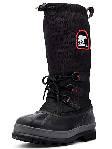 Sorel Men's Bear Extreme Snow Boot,Black/Red Quartz