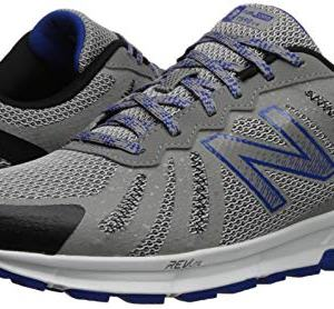 New Balance Men's FuelCore Trail Running Shoe, rain Cloud/Team Royal/Black