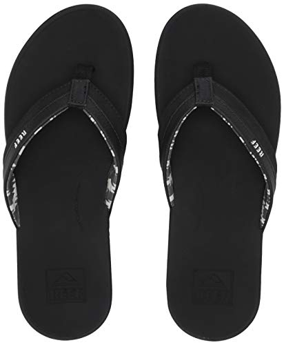 REEF Women's Ortho-Bounce Coast Sandals, Black