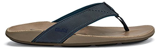 OLUKAI New Men's NUI Flip Flop Trench Blue/Clay