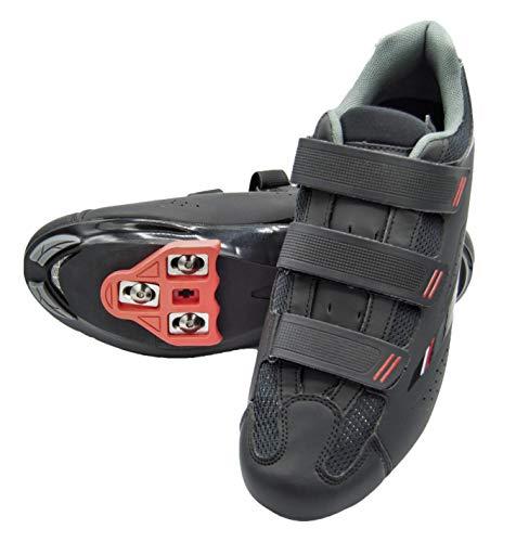 tommaso Strada 100 Dual Cleat Compatible Spin Class Ready Bike Shoe - Look Delta - 46 Black