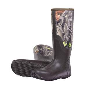 Hisea Men's Rain Boots Waterproof Durable Insulated Rubber Neoprene Outdoor