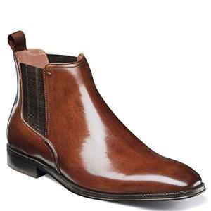 Florsheim Men's Belfast Plain Toe Gore Boot Chelsea, Cognac, 11 M US