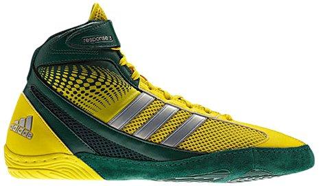 Adidas Wrestling Men's Response 3.1-M, Forest/Vivid Yellow/Metalic Silver 11.5 M US