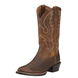 ARIAT Men's Sport R Toe Western Boot Earth