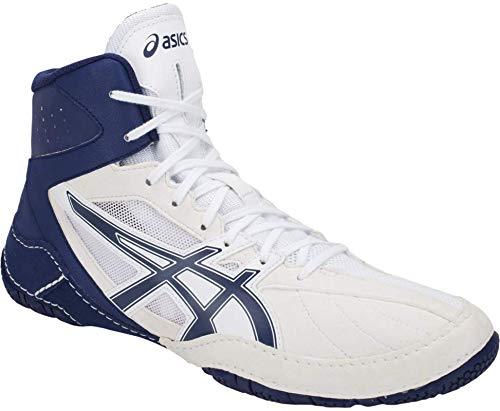 ASICS Matcontrol Men's Wrestling Shoe, White/Indigo Blue