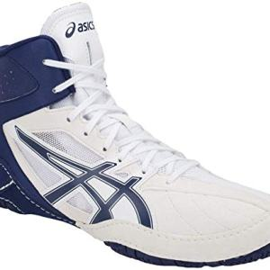 ASICS Matcontrol Men's Wrestling Shoe, White/Indigo Blue