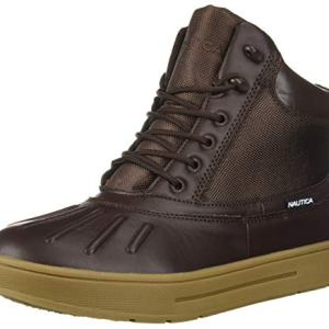 Nautica Men's New Bedford Ankle Boot, Dark Brown Smooth