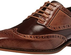 STACY ADAMS Men's Tinsley - Wingtip Oxford Tan/Brown