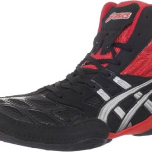 ASICS Men's Split Second 9 Wrestling Shoe,Red/Silver/Black,11 M US