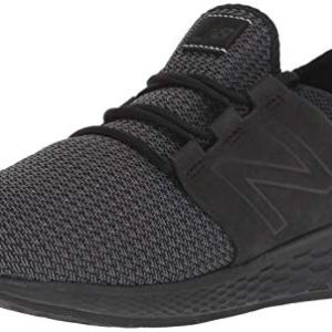 New Balance Men's Cruz V2 Fresh Foam Running Shoe, black, 8 D US