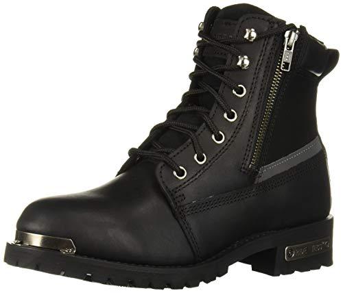 "RIDETECS 6"" Motorcyle Boots for Men, Oil Resistant, Reflective + Double Zipper"