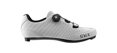 Fizik R3 UOMO BOA Road Cycling Shoes, White/Black, Size 46 White/Black