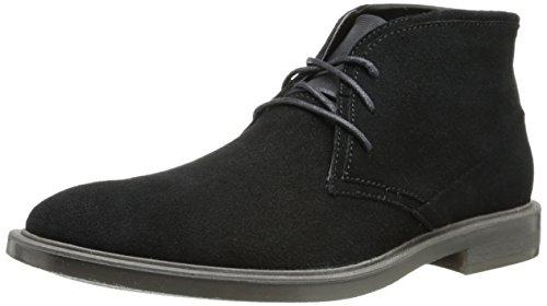 Calvin Klein Men's Ulysses Suede Boot,Black,13 M US