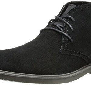 Calvin Klein Men's Ulysses Suede Boot,Black,13 M US