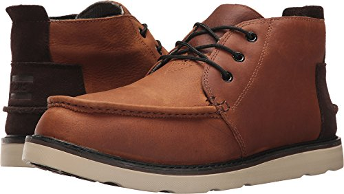 TOMS Men's Chukka Boot Waterproof Brown Pull-Up Leather