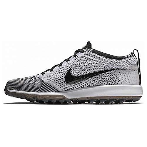 Nike Men's Flyknit Racer G Golf Shoes (11.5 M US, Black/White)