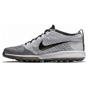 Nike Men's Flyknit Racer G Golf Shoes (11.5 M US, Black/White)