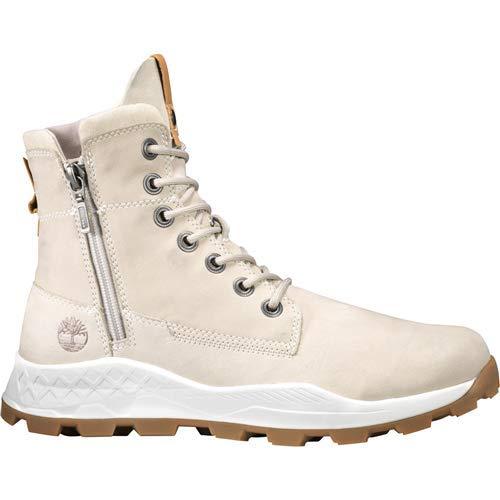 Timberland Mens Brooklyn Side Zip Boot, Light Taupe Nubuck