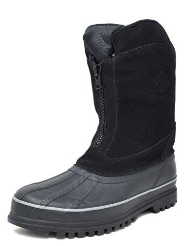 DREAM PAIRS Men's Viking-1 Black Insulated Waterproof Winter Snow Boots
