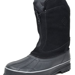 DREAM PAIRS Men's Viking-1 Black Insulated Waterproof Winter Snow Boots