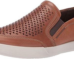 ECCO Men's Collin 2.0 Slip On Sneaker, Cashmere Perforated