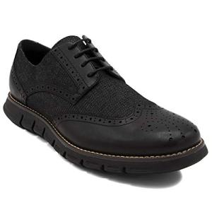 Nautica Men's Wingdeck Oxford Shoe Fashion Sneaker-Black Denim/Black