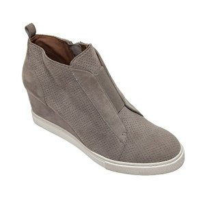 Felicia - Our Original Platform Wedge Sneaker Bootie Rock Perforated Suede