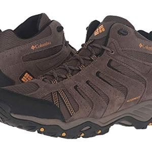 Columbia Men's North Plains II Waterproof MID Hiking Boot, Mud, Squash, 10 D US