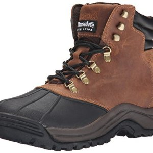 Propet Men's Blizzard Mid Lace Snow Boot, Brown/Black