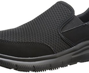 Skechers Men's Black Flex Advantage Slip Resistant Mcallen Slip On