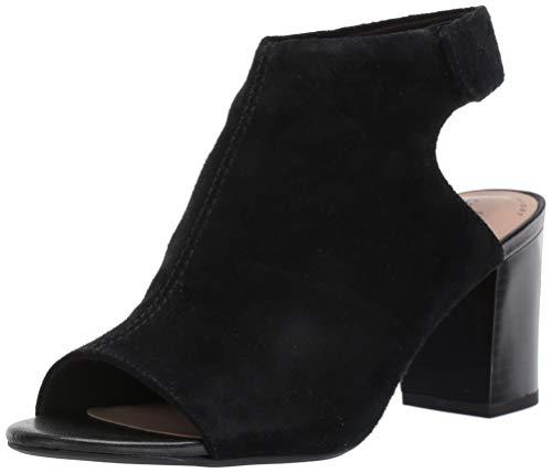 CLARKS Women's Deva Bell Heeled Sandal, Black Suede