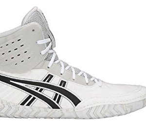 ASICS Aggressor 4 Men's Wrestling Shoes, White/Black