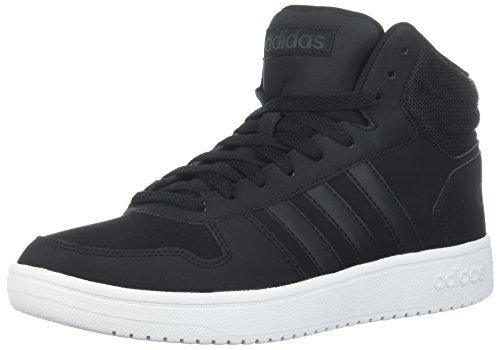 adidas Men's Hoops 2.0 Mid Sneaker, Black/Carbon